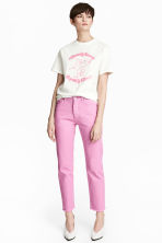 Straight Regular Jeans - Pink - Ladies | H&M 1