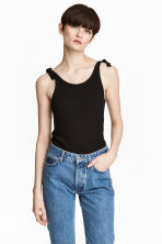 Top a coste - Nero -  | H&M IT 1