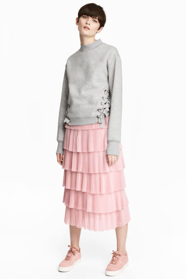 Tiered skirt - Light pink -  | H&M GB 1