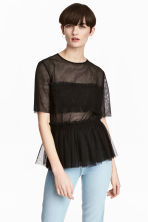 Tulle top - Black - Ladies | H&M CN 1