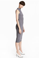Bodycon dress - Dark grey marl - Ladies | H&M CN 1