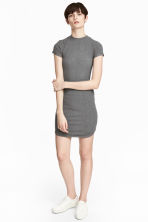 Fitted jersey dress - Grey marl -  | H&M CN 1