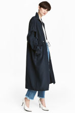 Oversized parka - Dark blue - Ladies | H&M CN 1