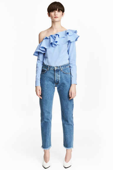 Straight Regular Jeans - Denim blue - Ladies | H&M CN 1