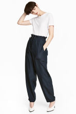 Oversized trousers - Dark blue - Ladies | H&M CN 1