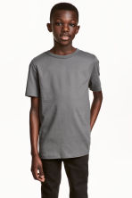Cotton T-shirt - Dark grey -  | H&M CN 1