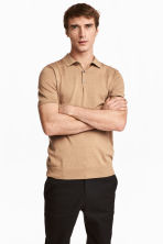 Silk-blend polo shirt - null - Men | H&M CN 1