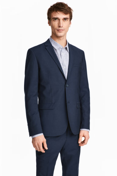 Kavaj Slim fit - Mörkblå - Men | H&M FI 1
