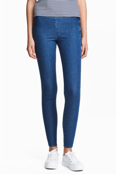 Stretchbroek - Denimblauw - DAMES | H&M BE 1
