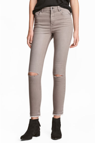 Skinny High Ripped Jeans - Sand - Ladies | H&M CN 1