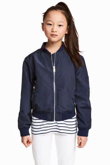 Bomber jacket - Dark blue -  | H&M 1