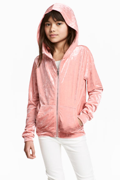 Hooded jacket - Old rose - Kids | H&M CN 1