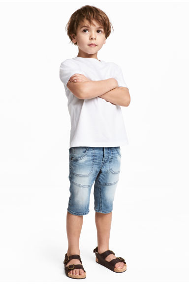 Knee-length denim shorts - Denim blue - Kids | H&M 1