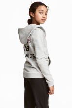 Hooded jacket - Grey marl - Kids | H&M CN 1