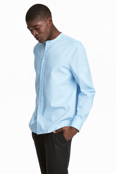 Grandad shirt Regular fit - Light blue - Men | H&M 1