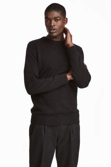 Pullover in misto lino - Nero - UOMO | H&M IT