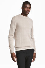 Linen-blend jumper - Light beige - Men | H&M CN 1