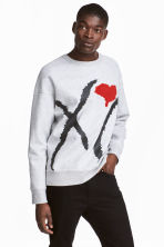 Sweatshirt - Grey/XO - Men | H&M CN 1
