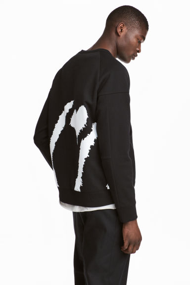 Sweatshirt - Black/XO - Men | H&M 1