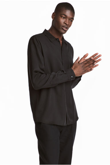 Lyocell shirt Regular fit - Black - Men | H&M CN 1