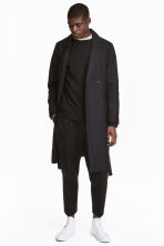 Double-breasted coat - Black - Men | H&M CN 1