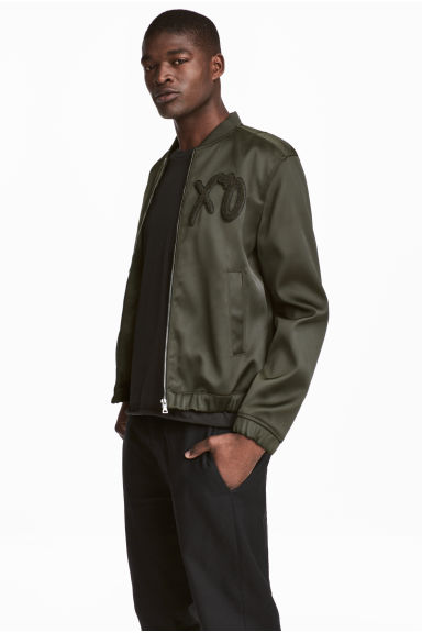 Bomber jacket - Dark khaki green/XO - Men | H&M CN 1