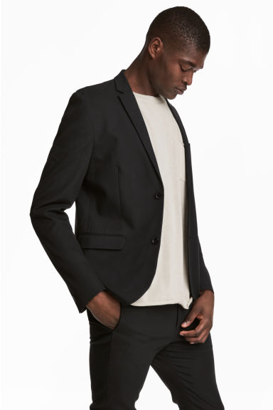 Viscose-blend twill jacket - Black - Men | H&M