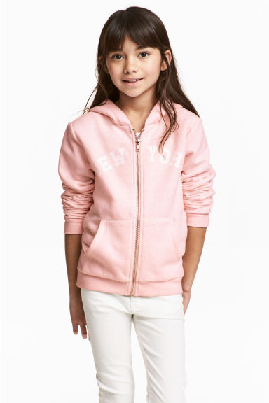Hooded jacket - Light pink -  | H&M