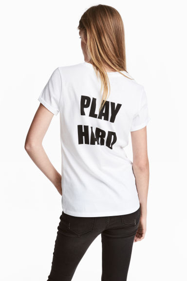 T-shirt with a motif - White - Ladies | H&M
