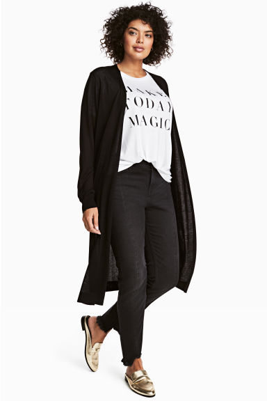 H&M+ Fine-knit cardigan - Black - Ladies | H&M 1