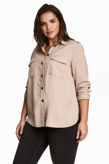 H&M+ Camicia in lyocell - Talpa chiaro - DONNA | H&M IT 1