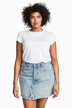 H&M+ Denim skirt - Light denim blue - Ladies | H&M 1
