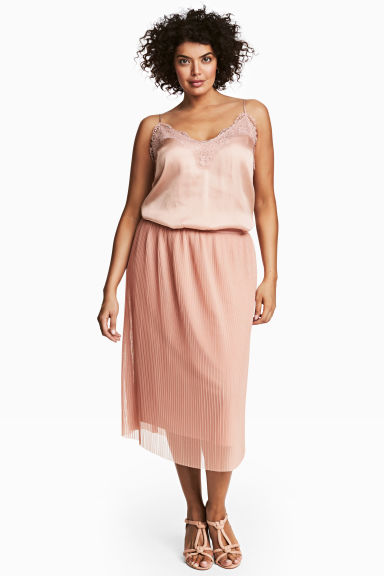 H&M+ Pleated skirt - Powder pink -  | H&M CA