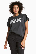 H&M+ 圖案T恤 - Dark grey AC/DC - Ladies | H&M 2