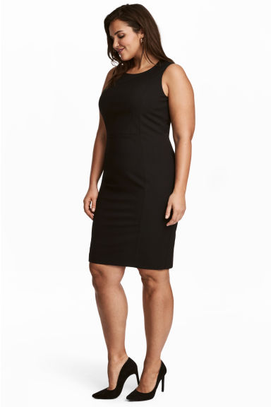 H&M+ Sleeveless dress - Black -  | H&M 1