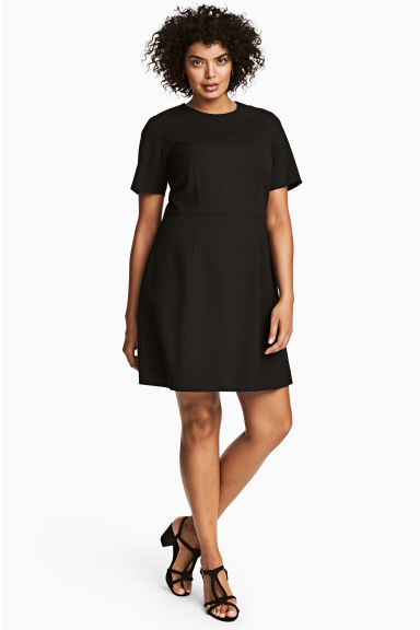 H&M+ Short dress - Black - Ladies | H&M CN 1