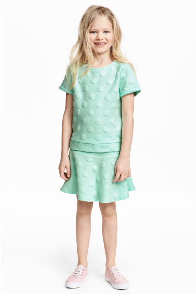 Top and skirt - Mint - Kids | H&M CN 1