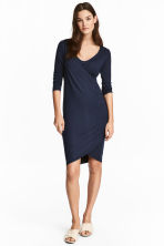 MAMA Jersey nursing dress - Dark blue - Ladies | H&M CA 1