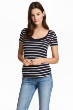 MAMA Nursing top - Dark blue/Striped - Ladies | H&M CN 1
