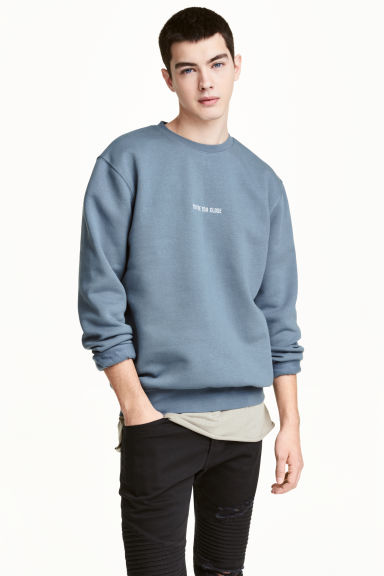 Sweatshirt - Pigeon blue - Men | H&M 1