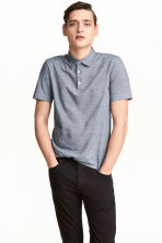 Polo shirt Slim Fit - Blue/Narrow striped - Men | H&M 1