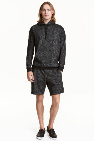 Sweatshirt shorts - Black marl - Men | H&M CN 1