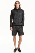 Sweatshirt shorts - Black marl - Men | H&M 1