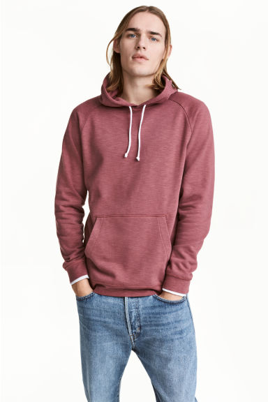Hooded top - Pale red - Men | H&M CN