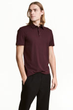 Polo shirt Slim Fit - Dark plum - Men | H&M 1