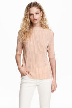 Pleated top - Powder - Ladies | H&M 1