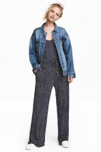 Tricot jumpsuit - Donkerblauw/stippen - DAMES | H&M BE 2