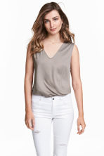Lyocell top - Mole - Ladies | H&M CN 1