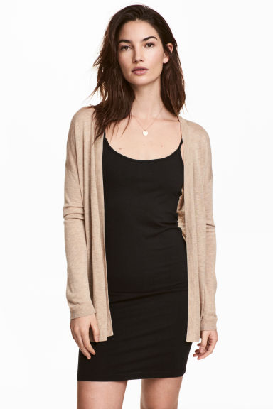 Fine-knit cardigan - Beige marl - Ladies | H&M 1