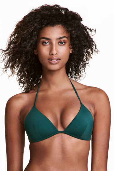Push-up bikini top - Emerald green - Ladies | H&M CN 1